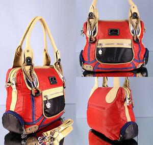 Damen Handtasche top Design Shopper mit Außentaschen Schultertasche AK11258 neu