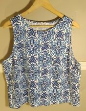 Milly For Design Nation Xl Tank Blue Summer