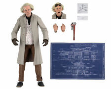 """NECA - Back to The Future Doc Brown 7"""" Action Figure & Official 53614"""