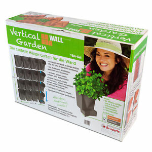 VerticalGarden WALL 16erSet A Wandblumentöpfe/Urban Gardening/Wandbegrünung