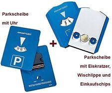 Mitlaufende Parkscheibe mit Uhrwerk + GRATIS!! Parkuhr + Eiskratzer + Wischlippe