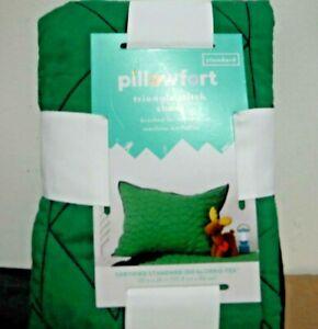 Target Pillowfort  Pillow Sham Triangle Stitch Standard  SOLID  Green Navy Blue
