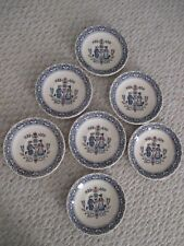 Johnson Bros Staffordshire Old Granite Hearts & Flowers Set of 7 Saucers / Bread