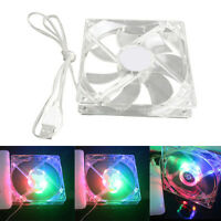Mini USB Powered LED Coolng Colorful Display Function Clock Fan SELL