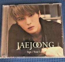 JAEJOONG Sign/Your Love B type CD+DVD First Limited Edition Japan JYJ K-POP