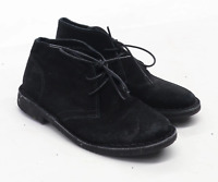 Next Boys UK Size 11 Black Suede Boots