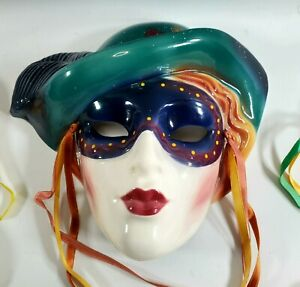 Vintage 1990's CLAY ART WALL MASK From San Francisco USA FAST SHIP!