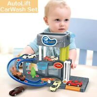 Automatic Lift Car Wash Set Toy With Color Changing Alloy simulation Cars Wash