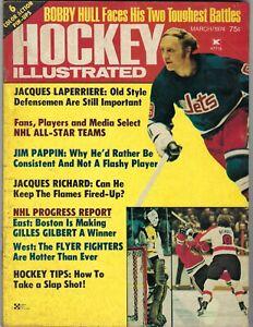 1974 Hockey Illustrated magazine Bobby Hull, Winnipeg Jets, Pappin Blackhawks Gd