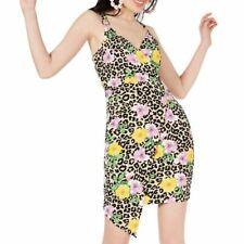Almost Famous New Women's Taupe Multi Animal Print Wrap Dress M Tedo