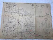 1960 General Highway Map Van Zandt County Texas