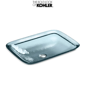 Kohler K-2773-TG1 Artist Editions Inia Wading Pool Elegant Glass Vessel Sink