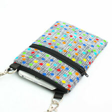 iPhone 7 Sling Purse Small Crossbody Bag Mini Travel Bags - colorful dots gray