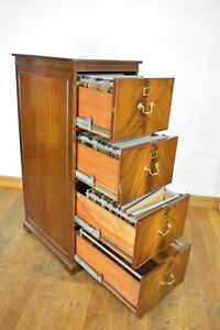 Antique style Mahogany tall filing cabinet