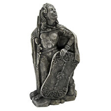 Small Morrigan Celtic Raven War Goddess Stone Finish  Dryad Design Statue Figure