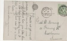 Pottenham 1907 Single Ring Postmark on Postcard, B423