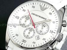 BRAND NEW EMPORIO ARMANI CHRONOGRAPH WHITE DIAL MEN WATCH AR5859