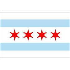New listing Chicago City Flag 3ft x 5ft Nylon