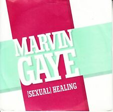 "MARVIN GAYE  Sexual Healing SOLID SLEEVE 45 rpm 7"" record + juke box title strip"