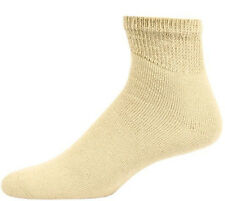 Sole Pleasers Men's King Size Tan Diabetic Quarter Socks - 3 Pairs