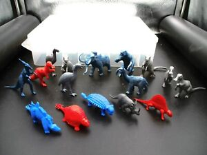 Vintage 16 Dinosaur Plastic Mpc Figures