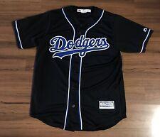 Majestic Los Angeles Dodgers Black Cool Base Authentic Jersey Mens Sz Medium