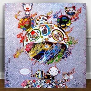 """TAKASHI MURAKAMI CHAOS CANVAS PRINT 24x24"""" JAPANESE POP ART"""