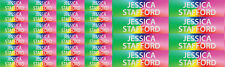 Rainbow name labels Kids School lunch drink bottle Tag Stickers - Mixed Size Pk