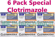 6 Pack Clotrimazole Anti Fungal Medicated Cream, 1% USP Compares to Lotrimin 1oz