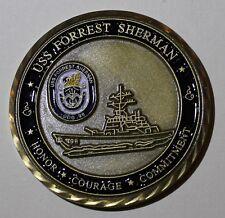 USS Forrest Sherman (DDG-98) Destroyer Oath of Reenlistment Navy Challenge Coin