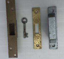 Old Chubb Lock Keep, Key and Faceplate