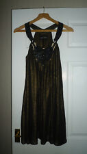 River Island Bronze Sequin Beaded Long Top/Dress Size 10, lined