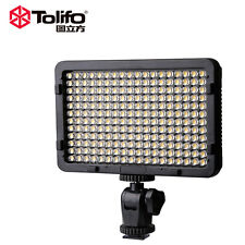TOLIFO 176 LED Ultra Video Light Fill-in Light HOT fr DSLR Camera DV Camcorder