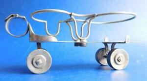 Unique EP Silver Roller Skate Table Cruet Caddy Table Service 1900s