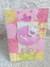Greeting Card Spanish Por el Nuevo Baby Carrito de Bebe Rosa New