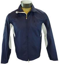 New Ralph Lauren Golf Wind Jacket Lightweight MP3 Player Pocket Navy Mens M