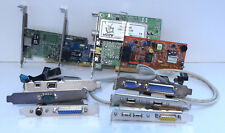 Lot cartes PCI et Adaptateurs / Ethernet / Modem / TV / Serial / Parallèle...