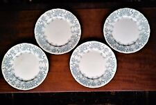 "Set of 4 Myott & Sons Brooklyn pattern antique plates blue & white 9"" diameter"