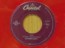 Bonnie Raitt country 45 You bw Feeling Of Falling Capitol red wax