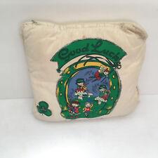 vintage shabby chic  hand decorated good luck Irish pillow st patricks day