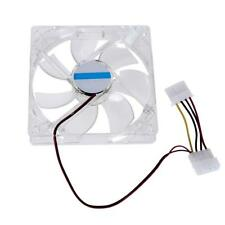 4 Pin 120mm PC Computer Clear Case Quad 4-LED Light 9-Blade CPU Cooling Fan New#