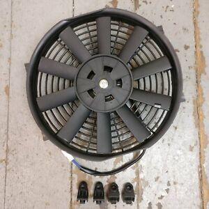 "1953-86 Jeep CJ DJ Series Electric Radiator Cooling Fan 10"" 1149 CFM cj5 tuxedo"