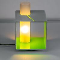 Design Lampe de Chevet avec Variateur Table Intensité Variable Vert/Blanc Carré