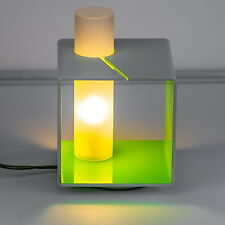 Design Nachttischlampe Tischleuchte Leseleuchte Tischlampe Grün Weiß Lampe eckig