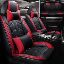Red/Black Luxury Leather Car Seat CoverFit for 5-Seat Car Interior Accessories