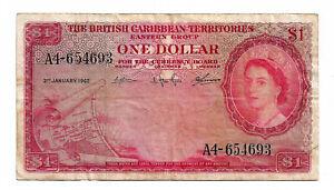 British Carribbean Territories 1 Dollar 1962 (A4 654693)