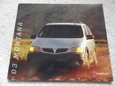 2003 Pontiac Montana Sales Brochure