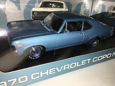 GMP 1/18 PEACHSTATE BLUE 1970 CHEVY COPO NOVA SS NEW