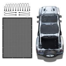 Black Full Bikini Soft Top Mesh Cover UV Sun Shade For Jeep Wrangler JL 4 Doors