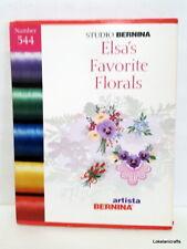 Studio Bernina Embroidery Design Card Number 544 Elsa'S Favorite Florals - Used